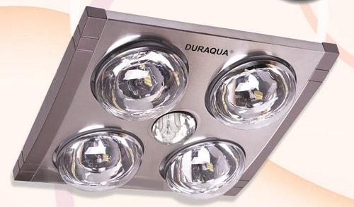 Đèn sưởi nhà tắm 4 bóng có điều khiển Duraqua DQ4RC