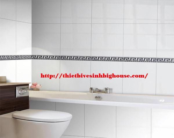 thiết kế phòng tắm sang trọng với gạch ốp tường cao cấp Taicera