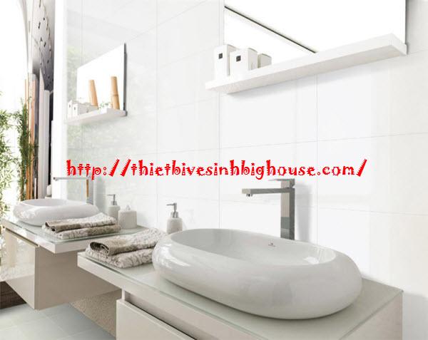 Phòng tắm đẹp như khách sạn với gạch ốp tường cao cấp Taicera