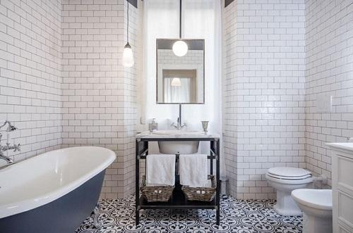 gạch đồng tâm ốp toilet mang tới vẻ đẹp sang trọng