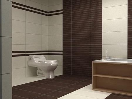 gạch đồng tâm ốp toilet đẹp