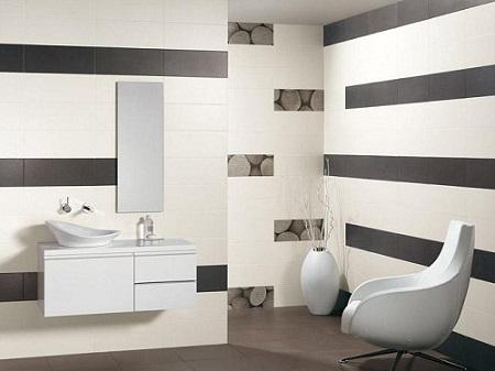 cách phối màu gạch nhà tắm