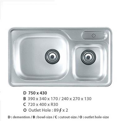 Chậu rửa bát CICO ISD – 750P