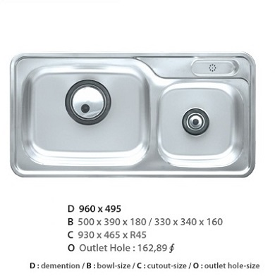 Chậu rửa bát CICO ISDP – 960