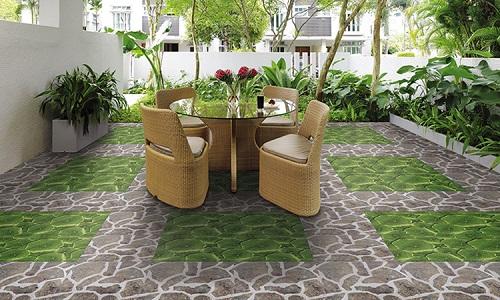 gạch lát sân chống rêu
