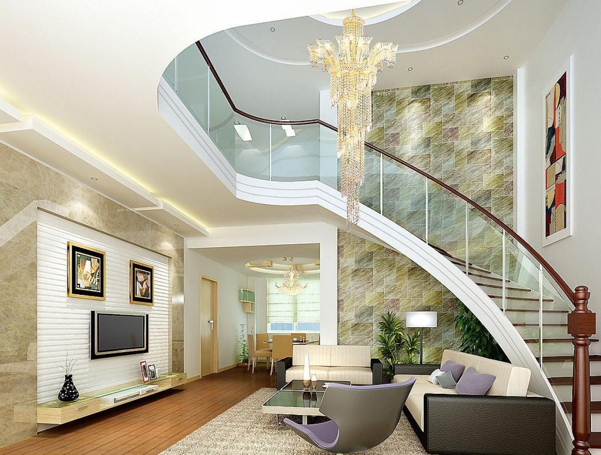 gạch trang trí vách cầu thang