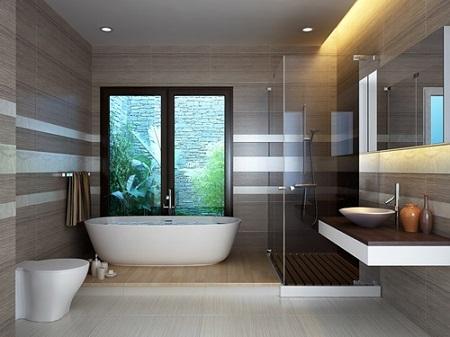 làm sạch gạch nhà tắm