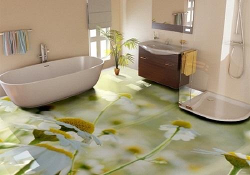 gạch nhà tắm 3D
