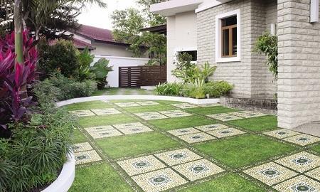 Xu hướng lựa chọn mẫu gạch lát nền giả cỏ năm 2018