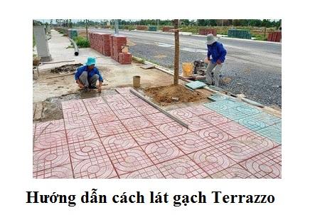 Cách lát gạch Terrazzo