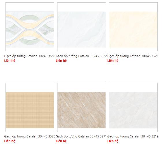Catalogue gạch Catalan