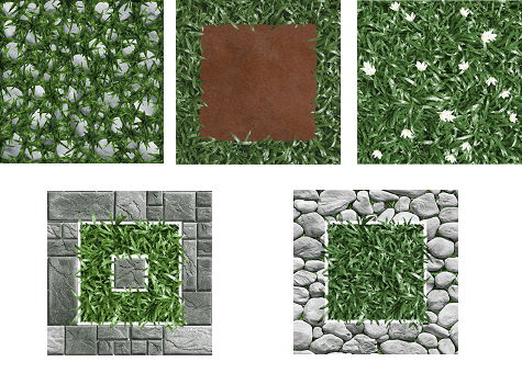 Gạch cỏ Mikado 1
