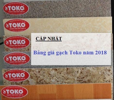 Bảng giá gạch Toko