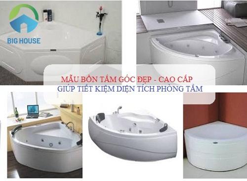 Top 3 mẫu Bồn tắm góc ĐẸP nhất cho công trình bình dân, cao cấp