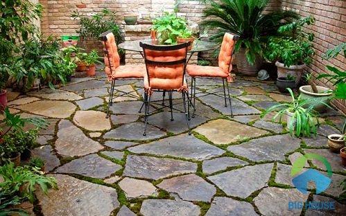 gạch đá trang trí sân vườn 2